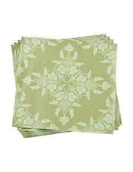 Le Jacquard Francais Paper Napkins Syracuse Green