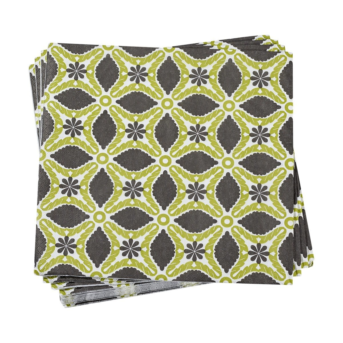 Le Jacquard Francais Paper Napkins Bahia Green