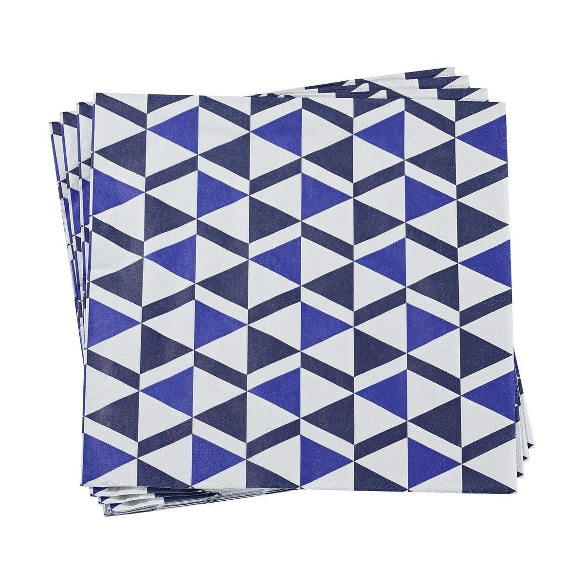 Le Jacquard Francais Paper Napkins Bistronome Blue