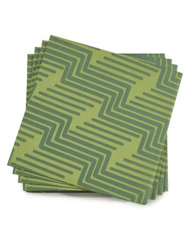 Le Jacquard Francais Paper Napkins Urbaine  Green