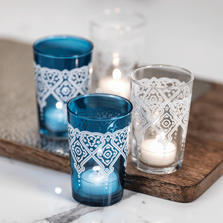 Mazagan Blue Tea Light Holder
