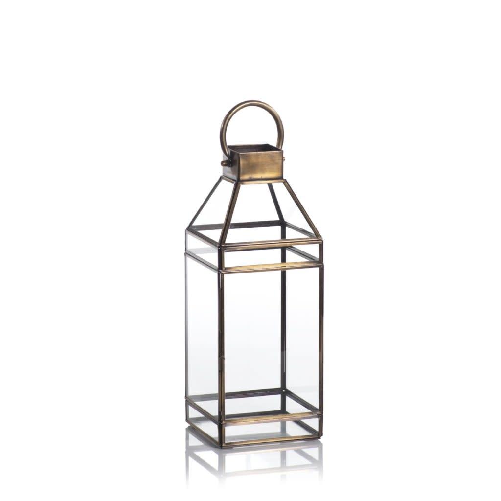 "Medici Antique Brass Lantern 18"""