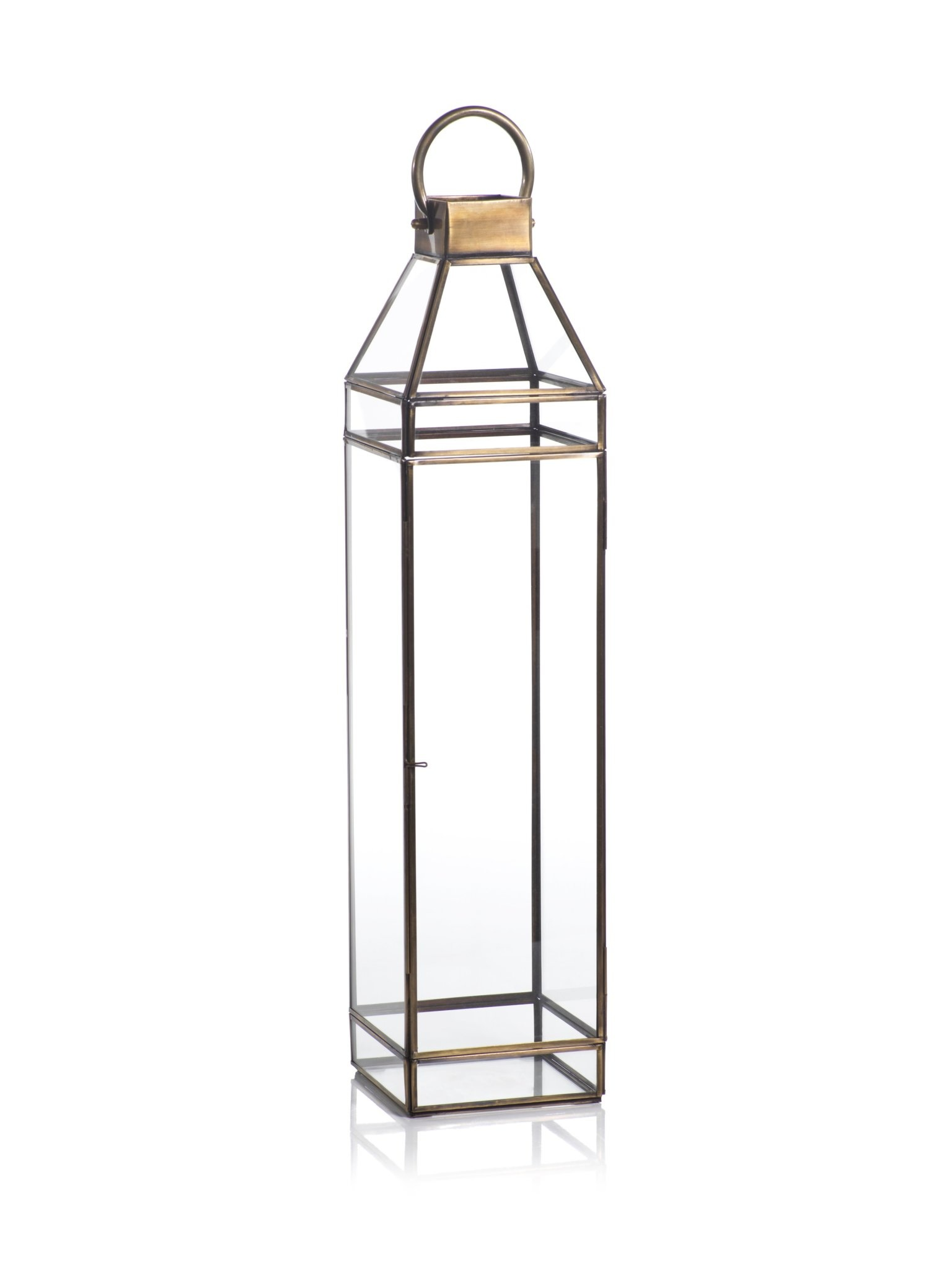 "Madici Antique Brass Lantern 25"""