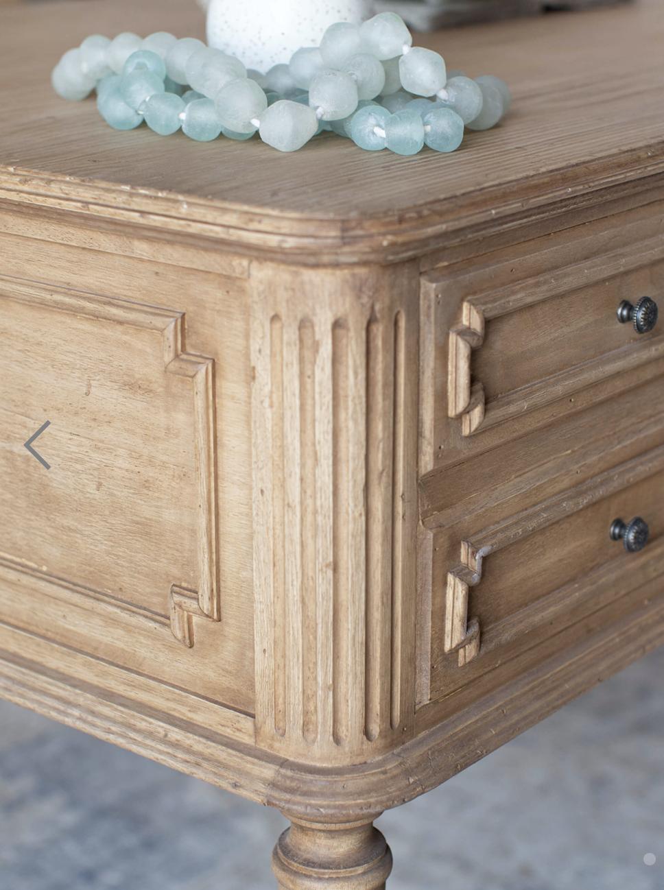 Coco Madame Desk in Bleached Oak Finish
