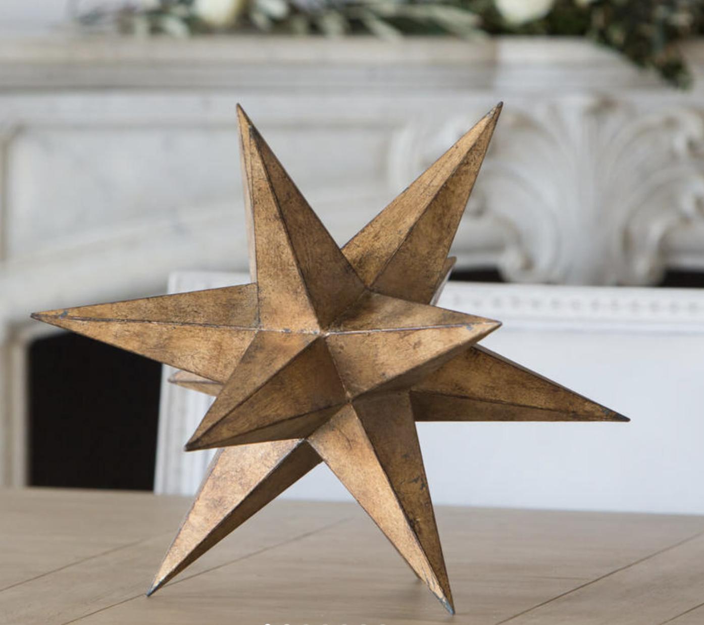 Decorative Stella in Old Worn Gold Finish