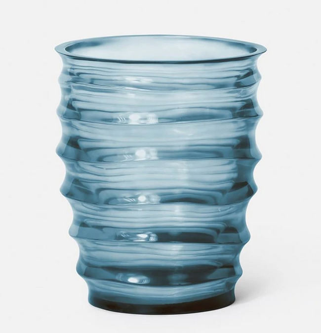 Hetty Vase Blue/ Grey Resin