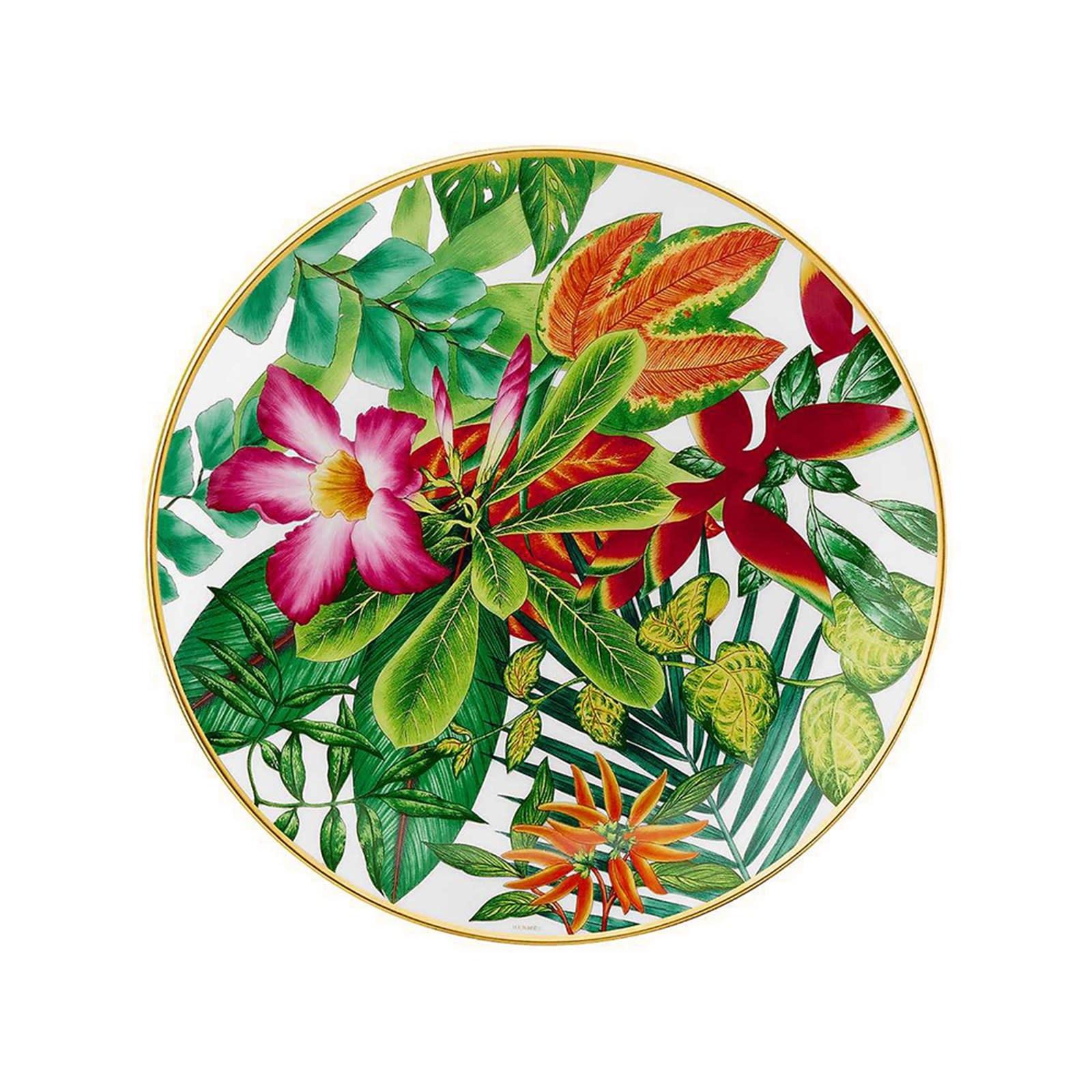 Hermes Passifolia Dessert Plate Rose No 1