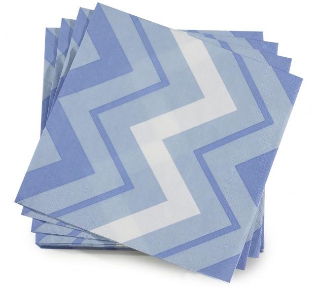 Le Jacquard Francais Paper Napkins Rock Denim