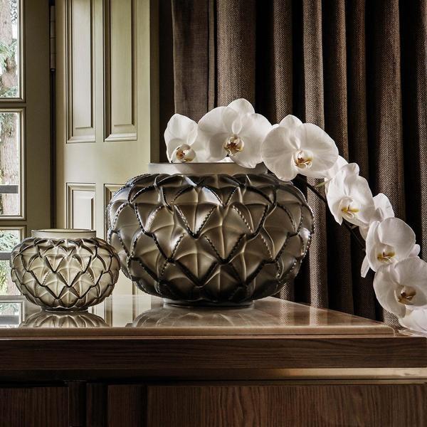 Lalique Langeudoc Bronze Vase
