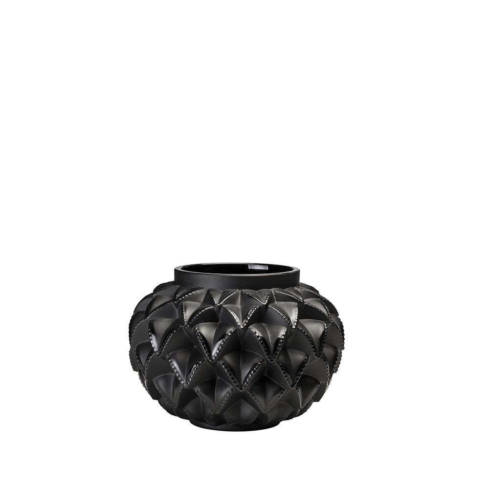 Lalique Black Languedoc Vase SM