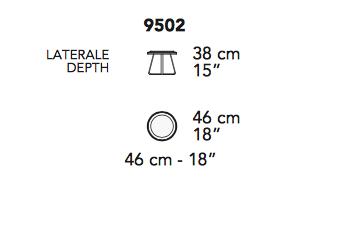 Nicoline Circolo Emperador Marble Side Table