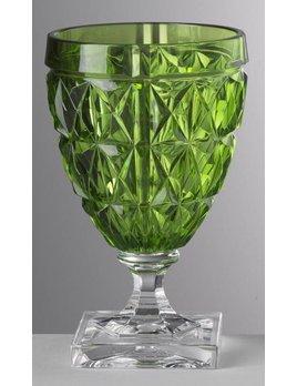 Mario Luca Giusti Stella Wine Glass Green