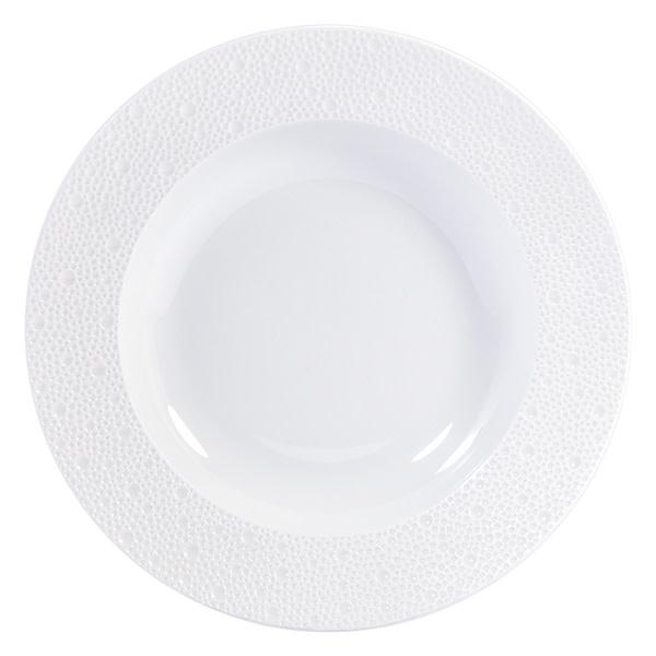 Bernardaud Ecume White Rim Soup 9 In