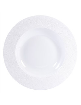 Bernardaud Ecume White Rim Soup 11.6 In