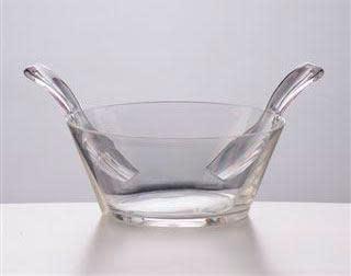 Mario Luca Giusti Salad Bowl Clear w/ Serving Pieces