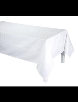 "Le Jacquard Francais Sienna White Tablecloth 69"" x 98"""