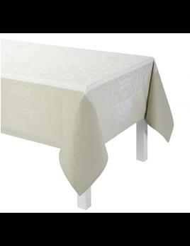 "Le Jacquard Francais Venezia Ivory Tablecloth 69"" x 98"""
