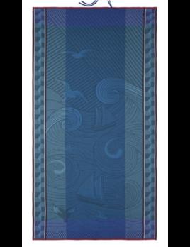 "Le Jacquard Francais Baignade A Socoa Blue Beach Towel 39""x79"""