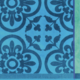 "Le Jacquard Francais Santorin Turquoise Beach Towel 39""x79"""
