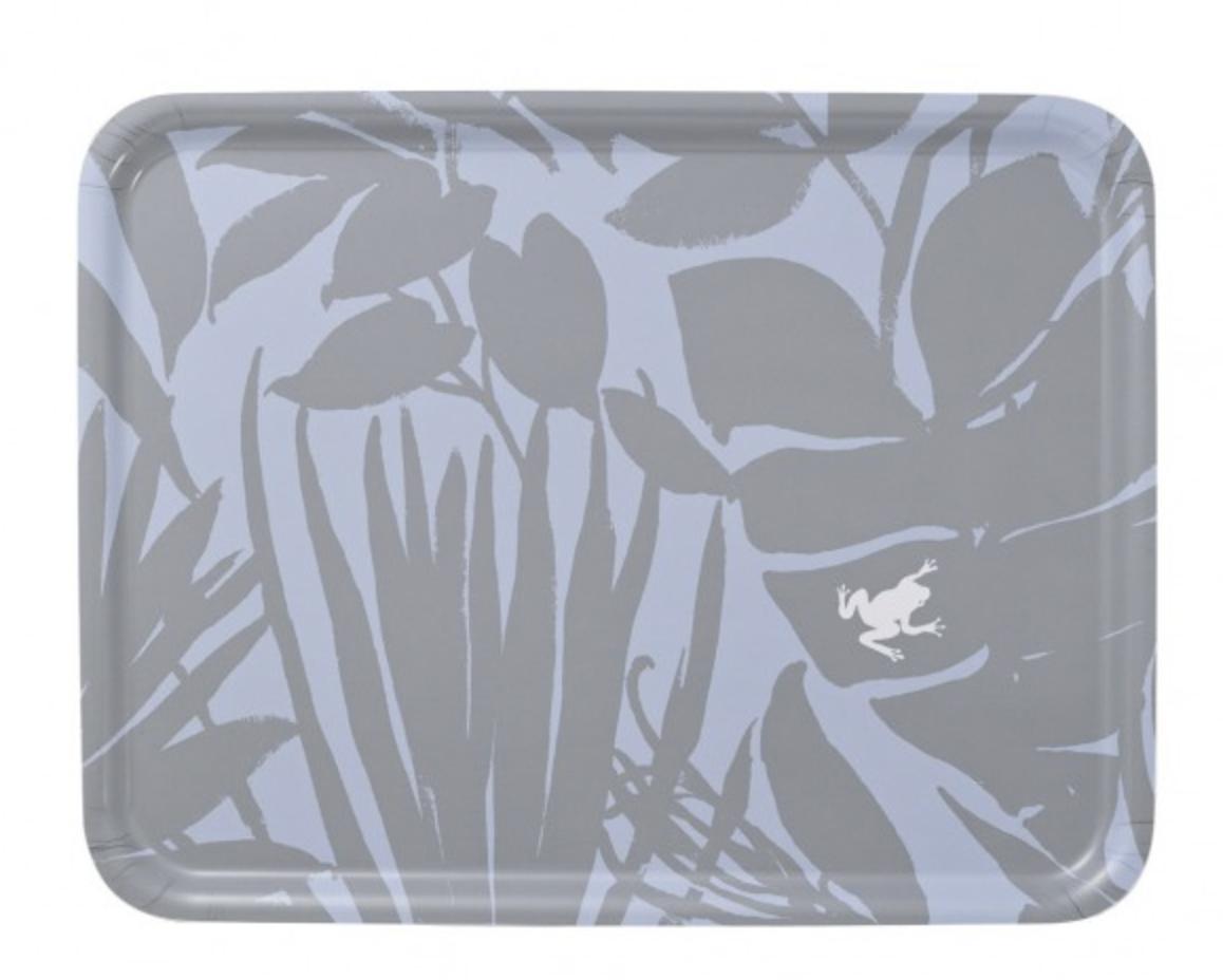 "Le Jacquard Francais Bahia Grey Tray 19""x14"""