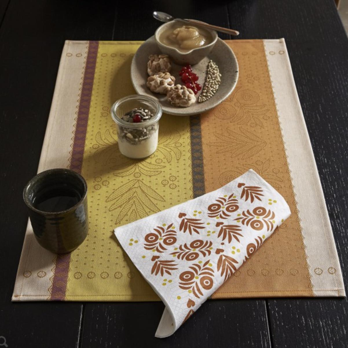 Le Jacquard Francais Vent D'Ouest Honey Paper Napkin