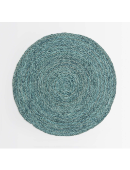Blue Pheasant Zoey Mixed Blue Round Placemat S/4
