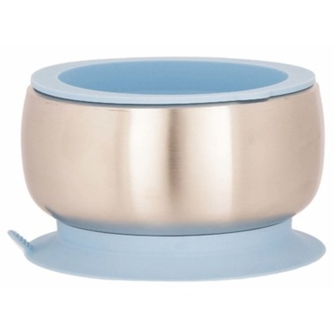 Avanchy - Stay Put Baby Stainless Suction Bowl - Blue
