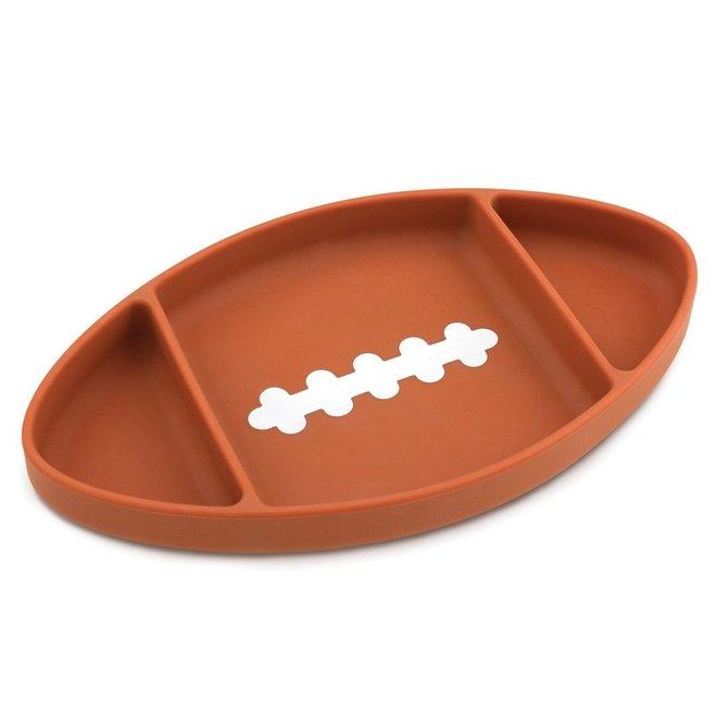 Bumkins - Silicone Grip Dish - Football