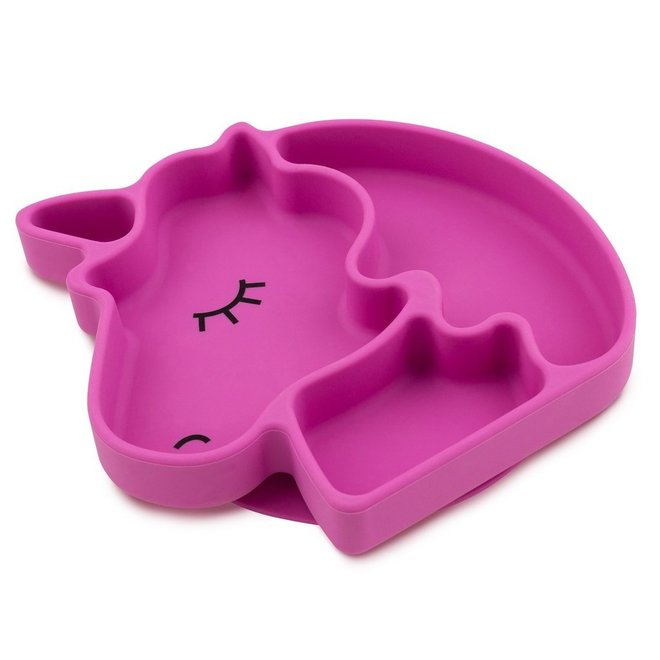 Bumkins - Silicone Grip Dish - Unicorn