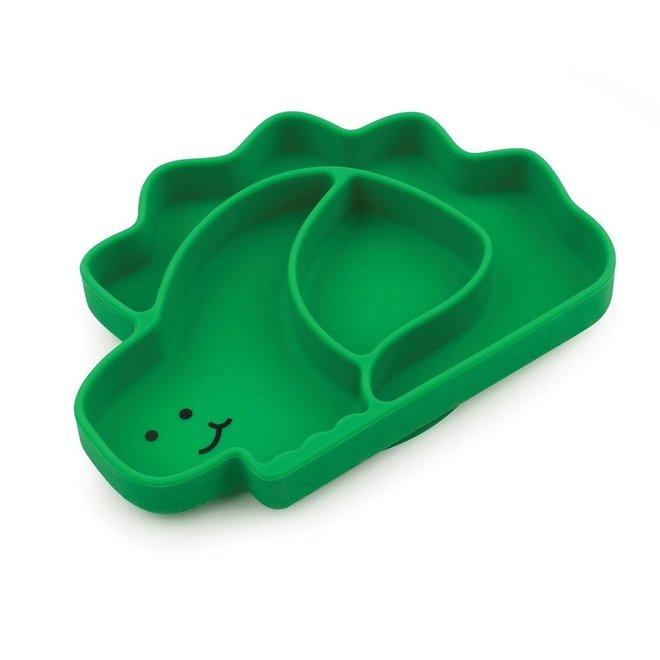 Bumkins - Silicone Grip Dish - Dino