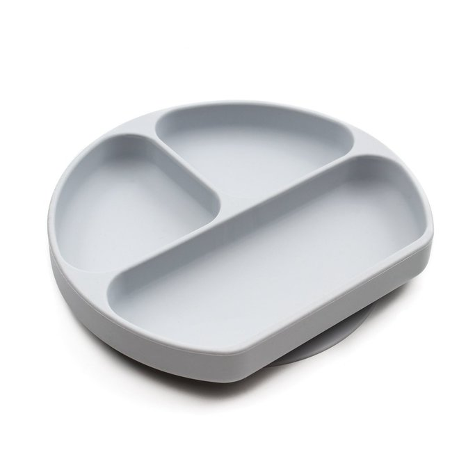 Bumkins - Silicone Grip Dish - Grey
