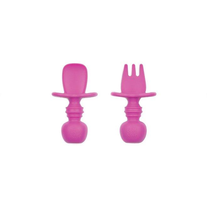 Bumkins - Silicone Chewtensils - Pink
