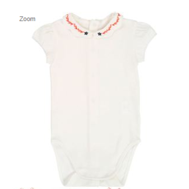 Carrement Beau Baby Bodysuite With Lace-Offwhite