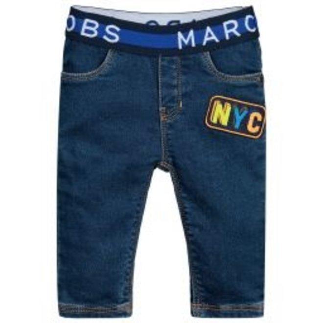 Little Marc Jacobs DENIM TROUSERS-DENIM BRUT