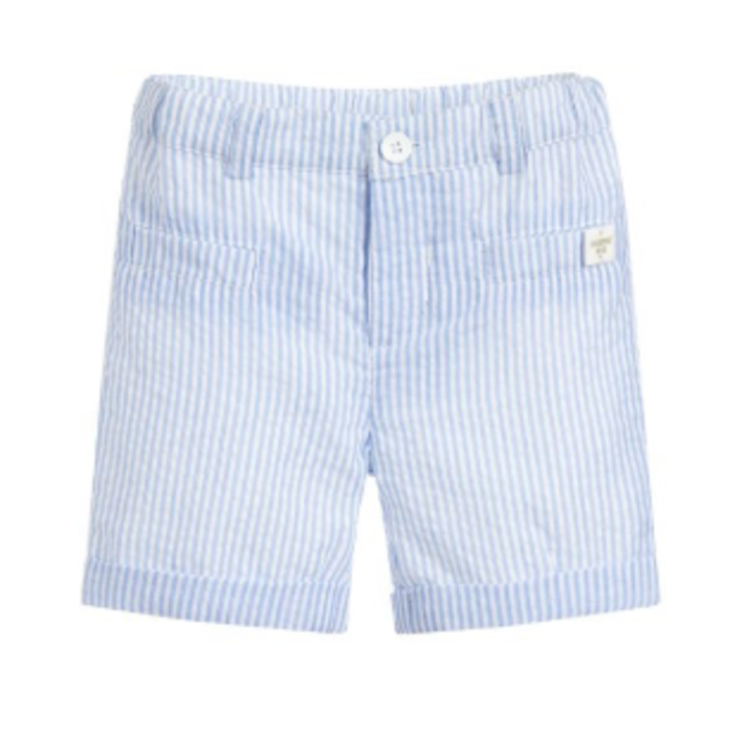 Carrement Beau Short De Ceremonie-Blanc Bleu