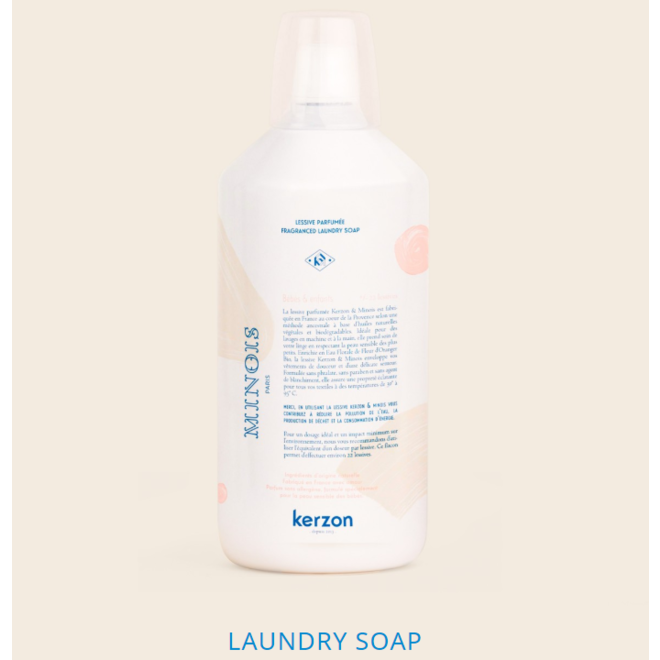 Minois Lessive parfumée MINOIS X KERZON -Fragranced Laundry 1000mL