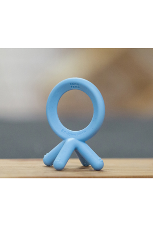 Comotomo Silicone Baby Teether Blue