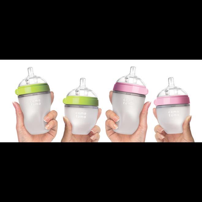 Comotomo - Natural Feel Bottle (Double Pk) - 250Ml - Green