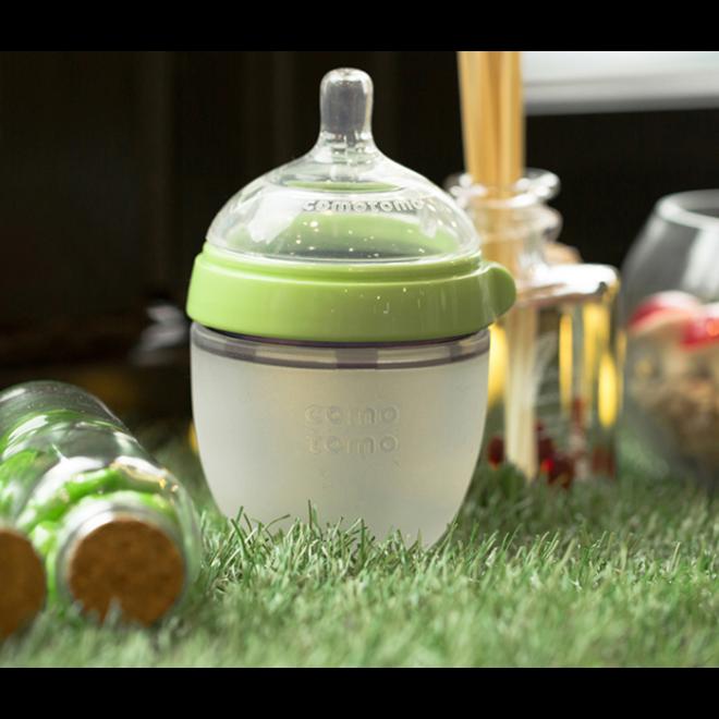 Comotomo - Natural Feel Bottle (Double Pk) - 150Ml - Green