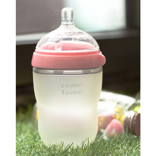 Comotomo - Natural Feel Bottle (Single Pk) 250Ml - Pink