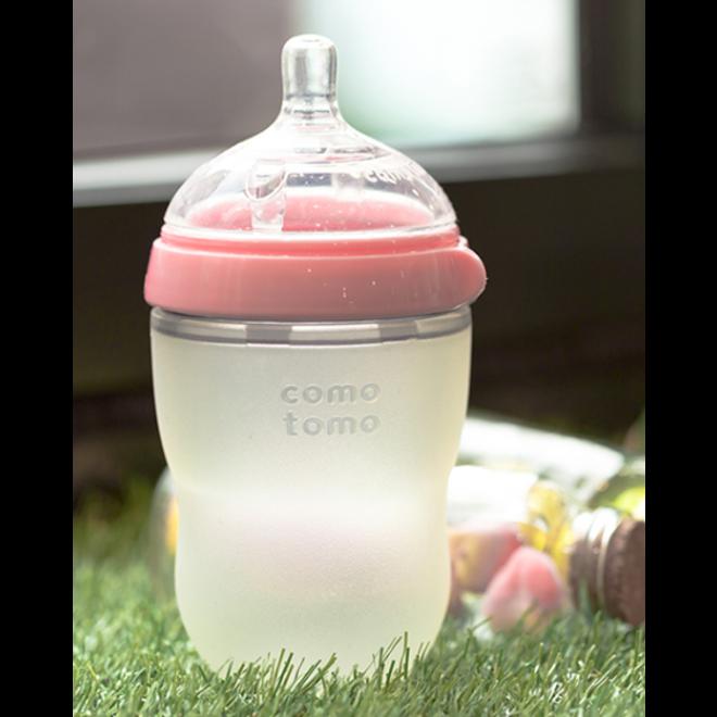 Comotomo - Natural Feel Bottle (Single Pk) 250Ml - Pink
