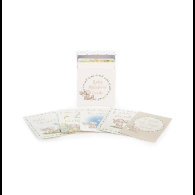 Jellycat Bashful Bunny Baby Milestone Cards