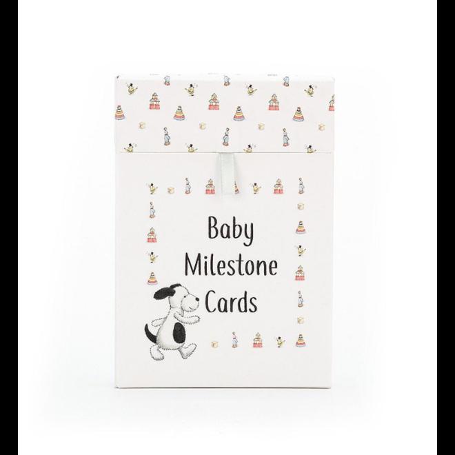Jellycat Bashful Puppy Baby Milestone Cards