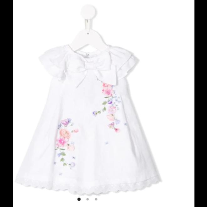 Lapinhouse Floral Print Linen Dress