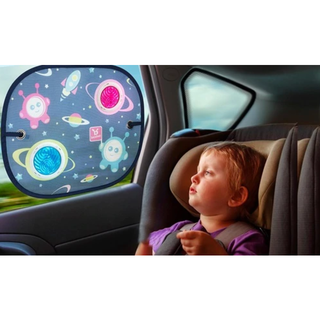 CAR SUNSHADE ROUND W/SUCTION CUP