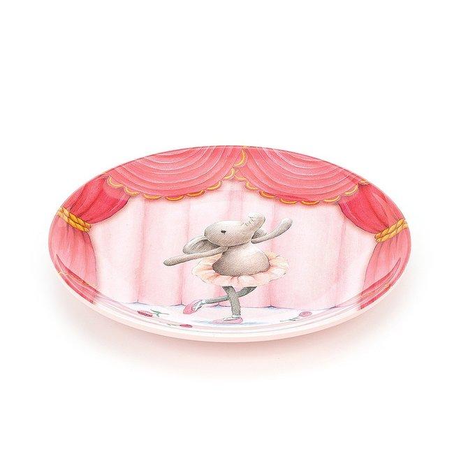Elly Ballerina Melamine Plate