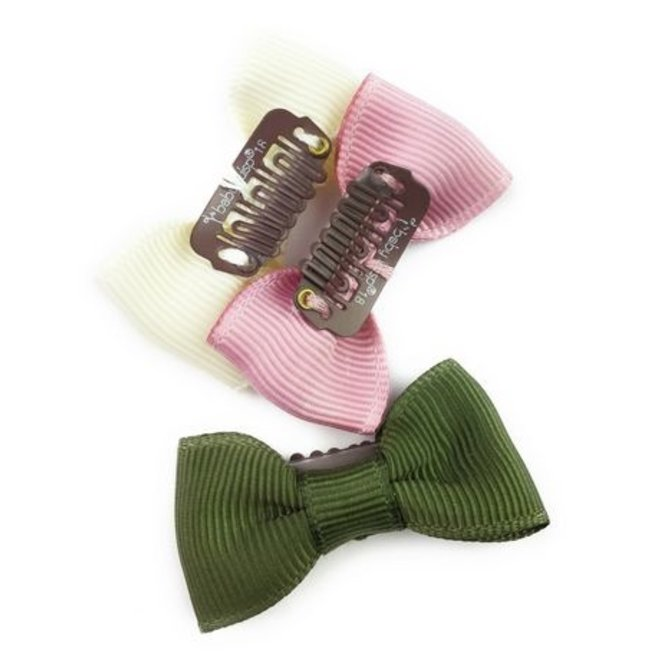 Mini Latch Wisp Clip Charlotte Bow Quartz Blush