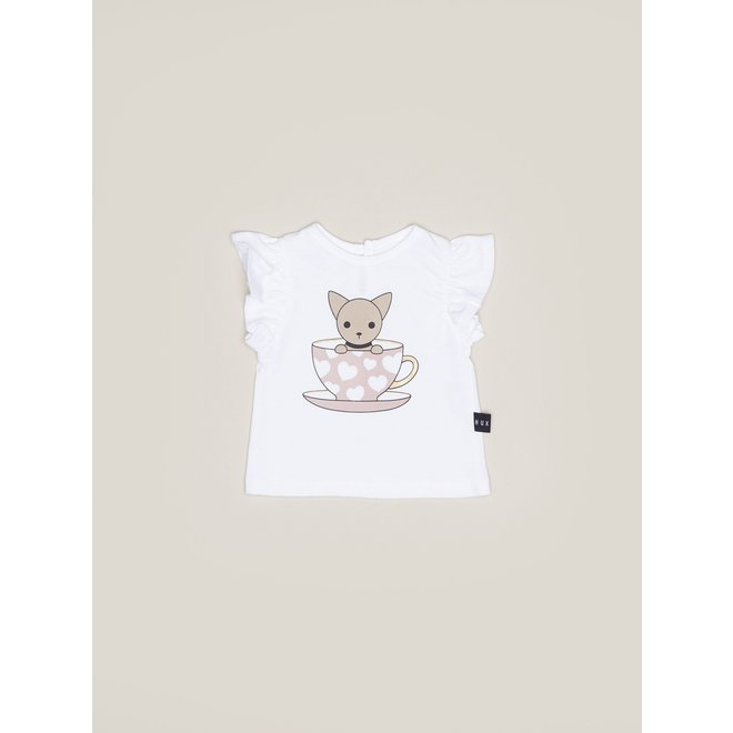 Chihuahua Cup Frill Top-White