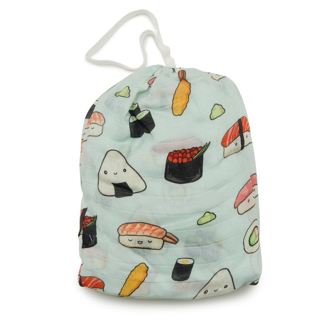 LOLLIPOP Fitted Crib Sheet - Sushi