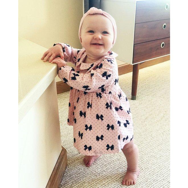 Baby Wisp - Headband - Nylon Turban Knot - Pale Pink